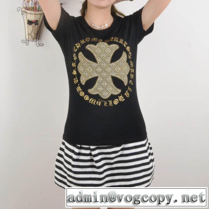 美品!2014春夏新作 chrome hearts クロムハーツ 女性半袖tシャツ 2色可選 n0851