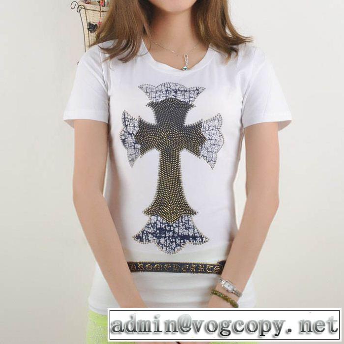 値下げ!2014春夏新作 chrome hearts クロムハーツ 女性半袖tシャツ 2色可選 n0850