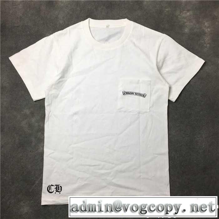 クロムハーツ CHROME HEARTS 着心地抜群2色可選 半袖Tシャツ 数量限定爆買い 2017春夏
