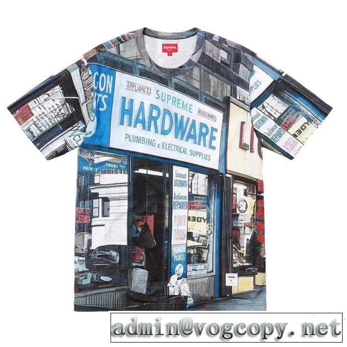 魅力をプラス シュプリーム SUPREME 18ss Hardware SS Top ファッショニスタ愛用 半袖Tシャツ 今季爆発的な人気