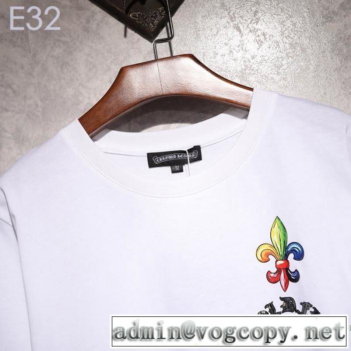 【2019年】夏のファッション 爽やかカジュアル人気 クロムハーツ CHROME HEARTS 半袖Tシャツ 2色可選 男女兼用
