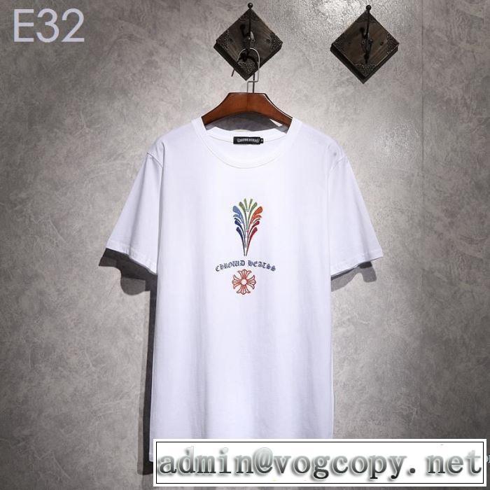 夏にぴったり限定アイテム クロムハーツ CHROME HEARTS 半袖Tシャツ 2色可選 男女兼用 2019夏ファション新品