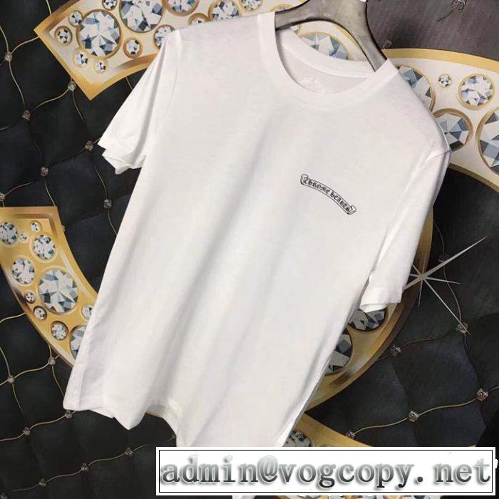 春夏の流行り2019新品 CHROME HEARTS クロムハーツ夏新品完売間近半袖Tシャツ 2色可選