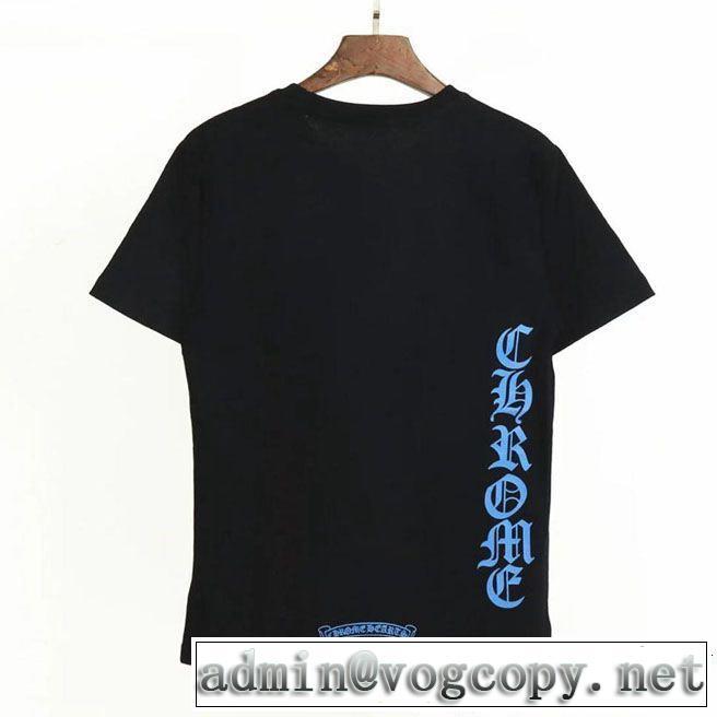 半袖Tシャツ今期注目のブランドトレンド 2色可選CHROME HEARTS2019夏ファション新品 クロムハーツ
