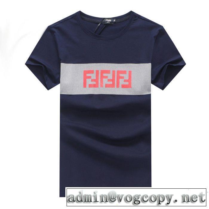 この夏は注目新作 今季のトレンド人気新作 FENDI フェンディ 半袖Tシャツ 3色可選