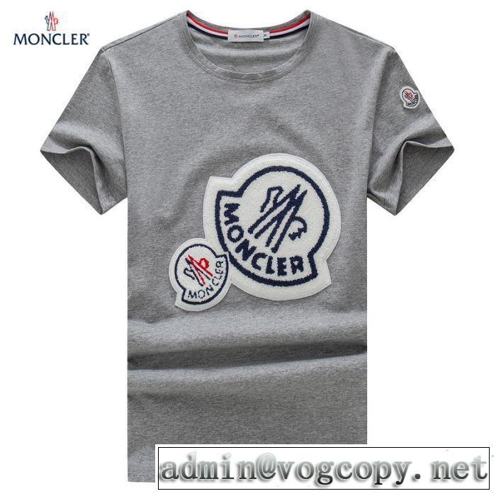 2019SSのトレンド商品 おしゃれデザインも大人気 モンクレール MONCLER Tシャツ/ティーシャツ 3色可選