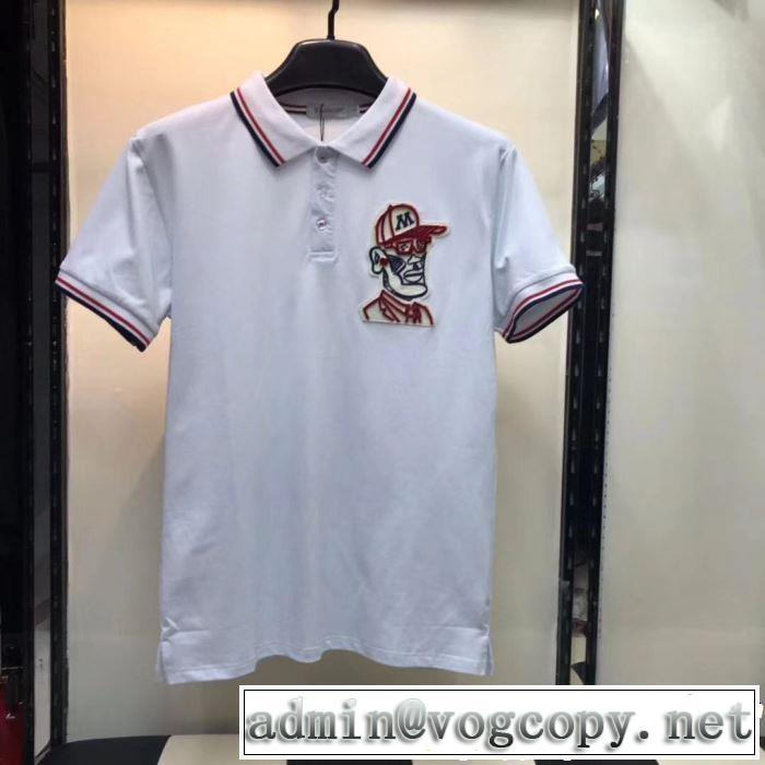 スタイルアップ上品 モンクレール MONCLER Tシャツ/ティーシャツ 2色可選 2019年春夏シーズンの人気