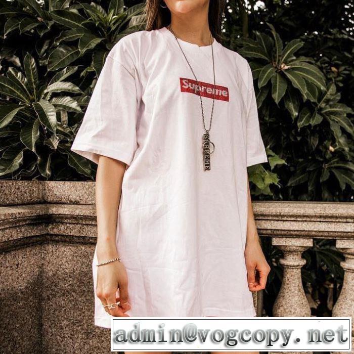 素敵カジュアル春夏新品 Supreme Swarovski Box Logo Tee Tシャツ/半袖 3色可選 夏らしい季節感