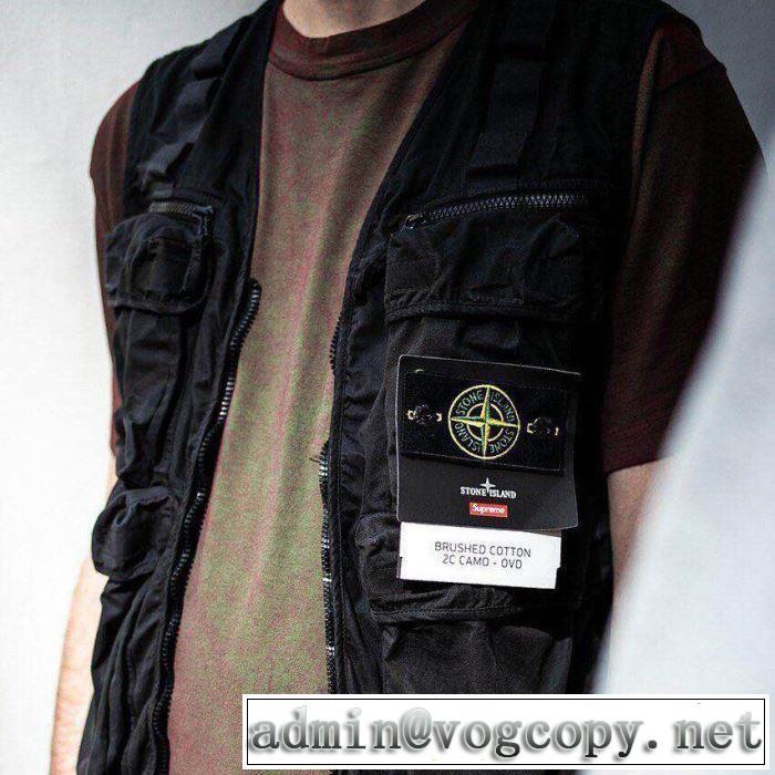 着るだけで上品なスタイル 19ss Supreme Stone Island Camo Cargo Vest さわやか夏スタイル新品