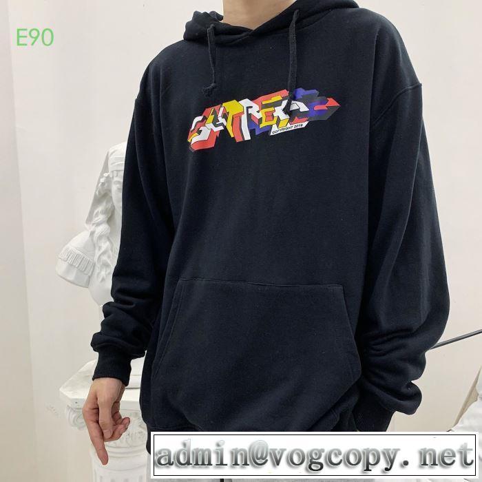 大胆なチェックの人気トレンド   多色可選  パーカー 19FW Hooded Sweatshirt寒い季節トレンド上品