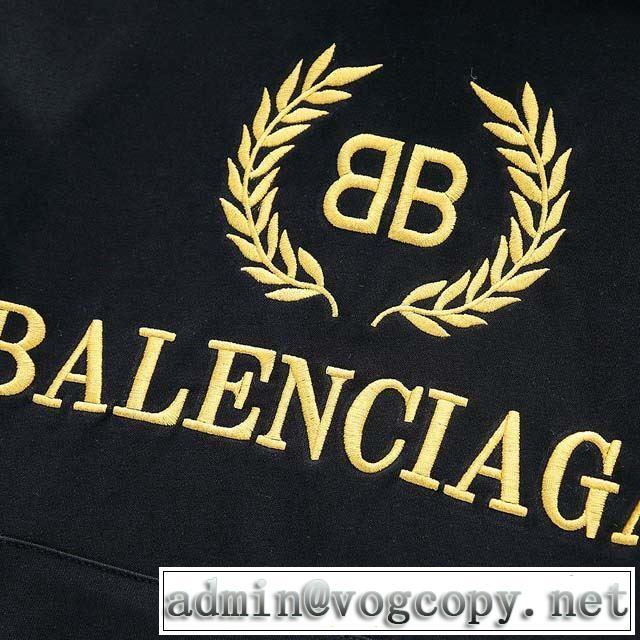 パーカー 2019秋に注目したい バレンシアガ BALENCIAGA ファッショントレンドを早速チェック 2色可選 最高にCOOL秋冬新作