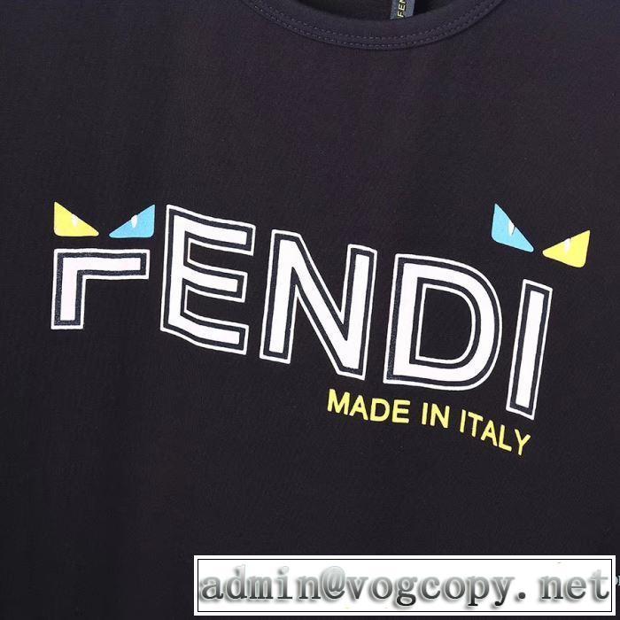 3色可選 半袖Tシャツ 人気ランキング最高 フェンディ 有名ブランドです FENDI 争奪戦必至