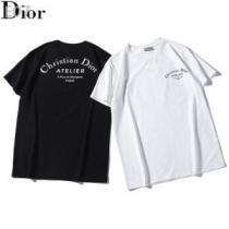春夏らしい華やか Tシャツ/ティーシャツ ディオール DIOR ドレスアップ効果も抜群 2色可選 清潔感のある肌見せ