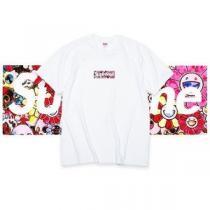 SUPREME×村上隆氏 シュプリーム ボックス ロゴ コピー Tシャツ 「お花」 特別なプリントに合わせ