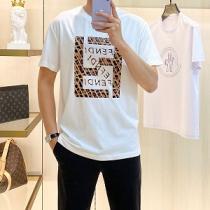 2021SS激安人気フェンディ Fendi Tシャツ コピー 清涼感とカジュアルスタイル メンズ 半袖