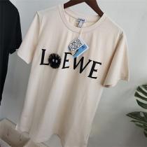 2021夏の最新ファッションロエベ LOEWE丸首ネックTシャツコピーブリケットダストエルフ 純綿素材、柔らかく快適